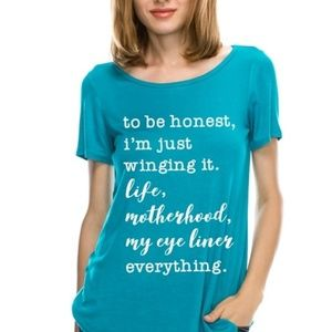 Tops - To Be Honest Graphic Tee!